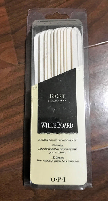 OPI White Board 120 Grit Set 12 Board Files NL2