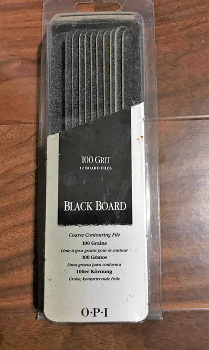 OPI Black Board 100 Grit Set 12 Board Files NL2