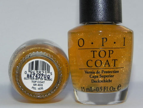 OPI Discontinue Color Nail Polish Glitter Bit of Music Top Coat SR 4D3 nl1