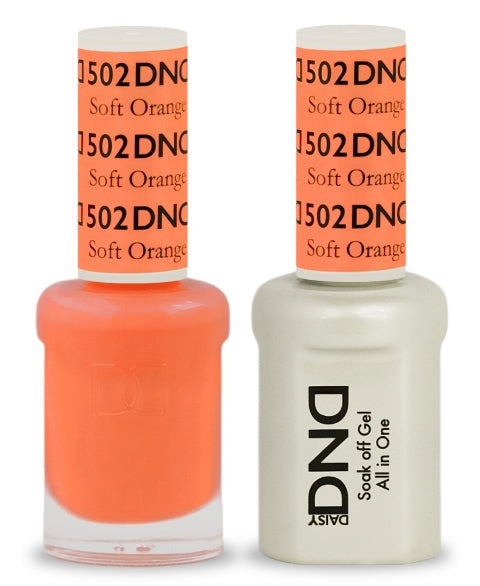 DND Gel & Lacquer 502  Soft Orange
