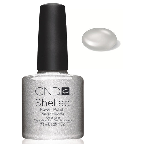 CND  SHELLAC UV Color Coat  SILVER CHROME 40532