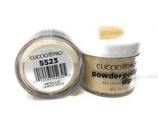 Cuccio Dip Powder Metallic Lemon Gold  5523 1.6 oz