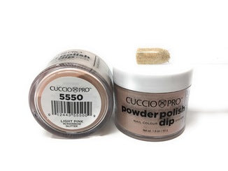Cuccio Dip Powder Light Pink W/Rainbow Glitter  5550 1.6 oz