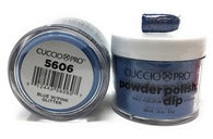 Cuccio Dip Powder Blue W/Pink Glitter 5606 1.6 oz