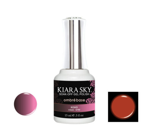 Kiara Sky Glow and Heat Changing gel polish XOXO G702