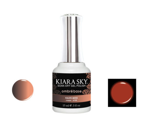 Kiara Sky Glow and Heat Changing gel polish HAUTE MESS G705