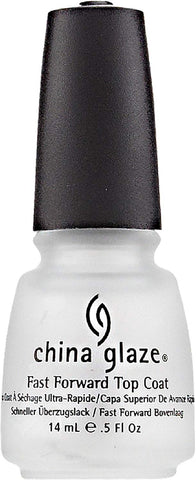 China Glaze Nail Polish Fast Forward Top Coat 914 0.5 oz