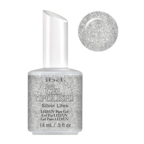 IBD Just Gel Polish Silver Lites  56572 .5 oz