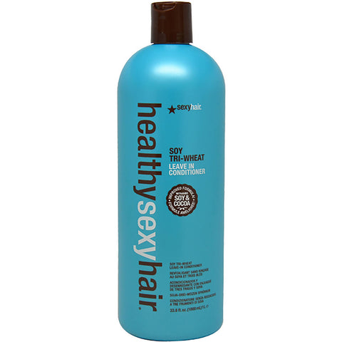 HEALTHY SEXY HAIR - SOY TRI-WHEAT LEAVE IN CONDITIONER - 33.8 OZ / LITER REFILL