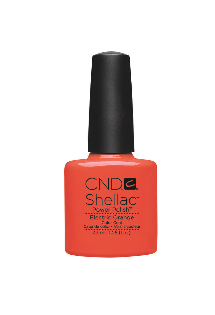 CND Shellac Power Polish Electric Orange #90514 .25 oz