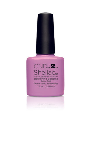CND Shellac Power Polish BECKONING BEGONIA - Garden Muse Collection #90797 .25 oz