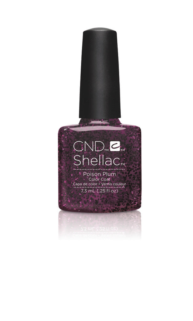 CND Shellac Power Polish Poison Plum - Contradictions Collection #90859 .25 oz