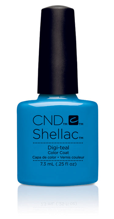 CND Shellac Power Polish Digi-Teal - Art Vandal Collection #91167 .25 oz