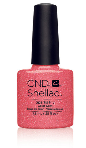 CND Shellac Power Polish Sparks Fly - Flirtation Collection #91177 .25 oz