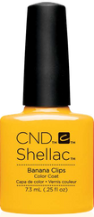 CND Shellac Power Polish BANANA CLIPS - New Wave Collection #91405 .25 oz