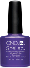 CND Shellac Power Polish VIDEO VIOLET - New Wave Collection #91409 .25 oz