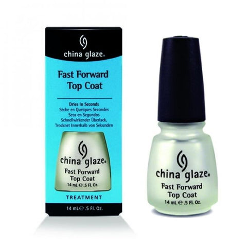 China Glaze Discontinued Nail Polish Lacquer Fast Forward Top Coat 914