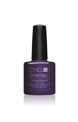 CND Shellac Power Polish ETERNAL MIDNIGHT - Nightspell Collection #91592 .25 oz