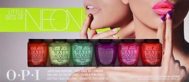 OPI Little Bits of NEON Mini 6pk Pack Summer 2014 Collection 6pc