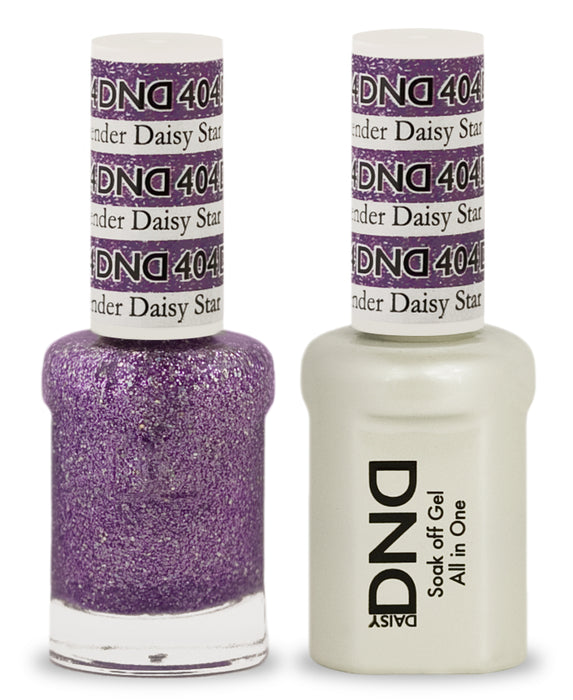 DND Gel & Lacquer 404  Lavender Daisy Star