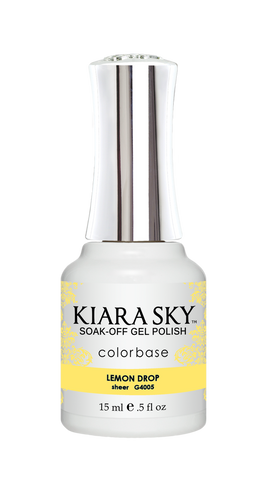 KIARA SKY GEL POLISH .5 OZ - #4005 LEMON DROP - JELLY COLLECTION  p1