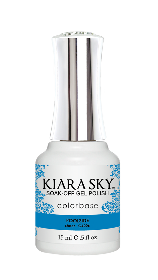 KIARA SKY GEL POLISH .5 OZ - #4006 POOLSIDE - JELLY COLLECTION p1