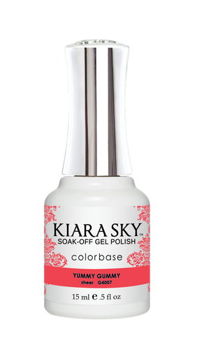 KIARA SKY GEL POLISH .5 OZ - #4007 YUMMY GUMMY - JELLY COLLECTION  p1