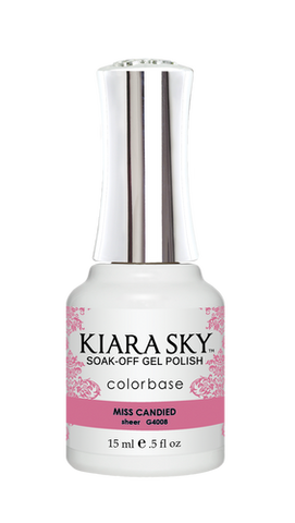 KIARA SKY GEL POLISH .5 OZ - #4008 MISS CANDIED - JELLY COLLECTION  p1