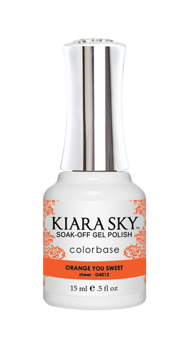 KIARA SKY GEL POLISH .5 OZ - #4012 ORANGE YOU SWEET - JELLY COLLECTION  p12