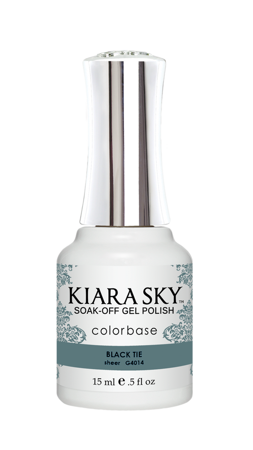 KIARA SKY GEL POLISH .5 OZ - #4014 BLACK TIE - JELLY COLLECTION  p1