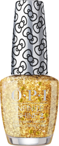 OPI INFINITE SHINE HOLIDAY HELLO KITTY GLITTER ALL THE WAY HRL43