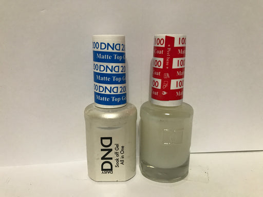 DND Matte Top Gel 200 + Matte Top Coat 100 0.5 z