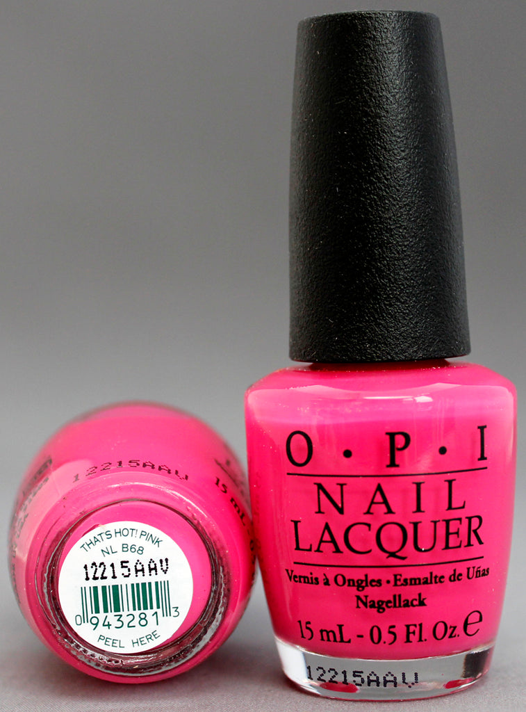 OPI Nail Polish NL B68 That\'s Hot! Pink – Hebiss