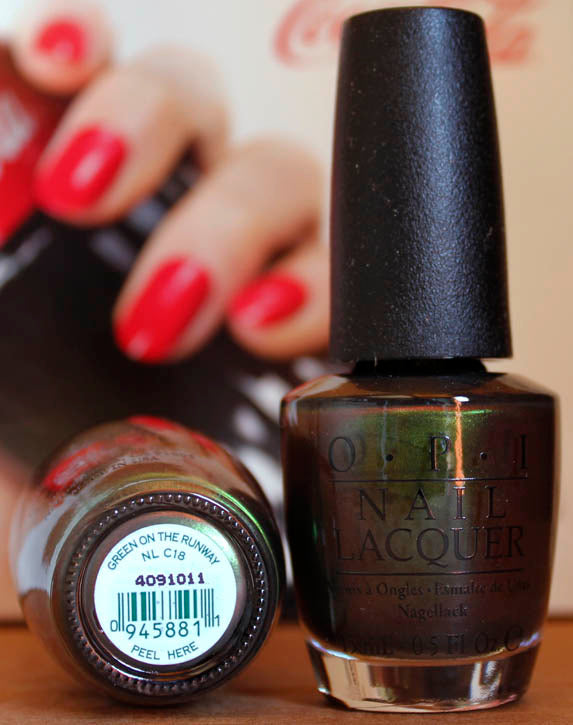 OPI Nail Polish NL C18 Green on the Runway
