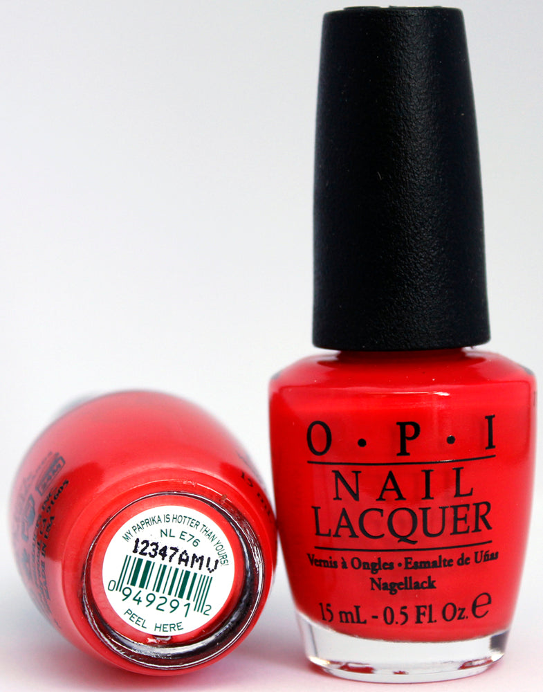 OPI Nail Polish NL E76 My Paprika is Hotter Than Yours!