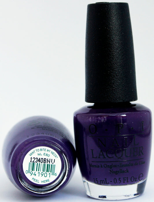 OPI Nail Polish NL E80 Vant to Bite My Neck?