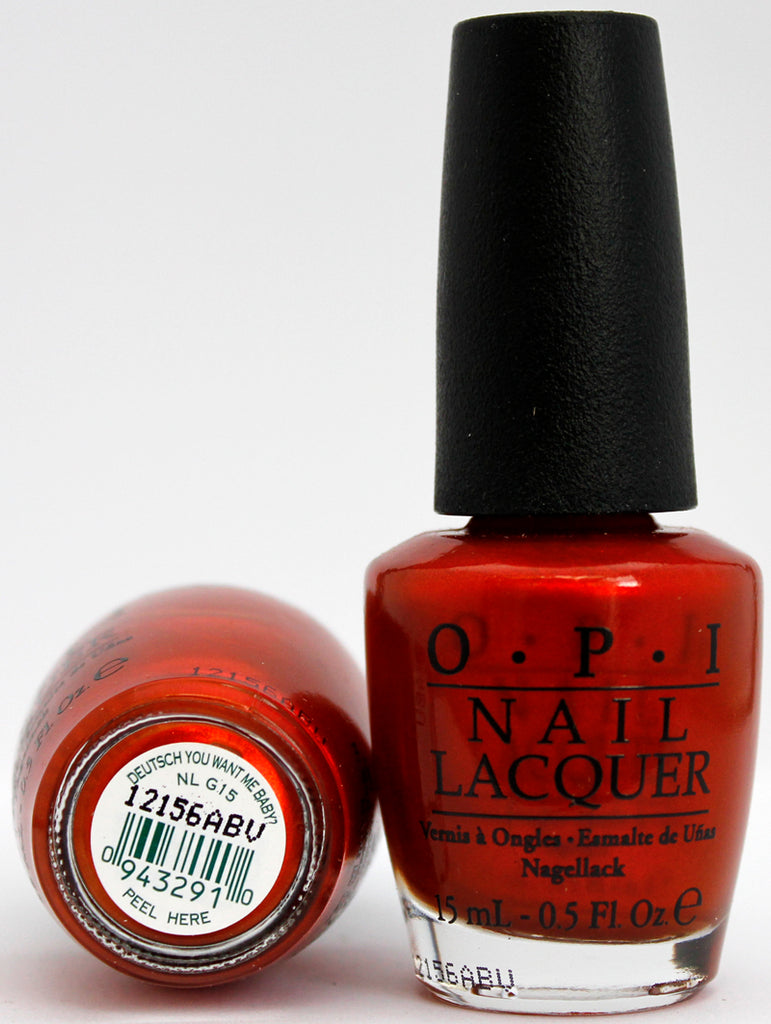 OPI Nail Polish NL G15 Deutsch You Want Me Baby?