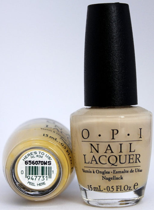 OPI Discontinued Color Nail Polish Here's to Us NL R34 nl1