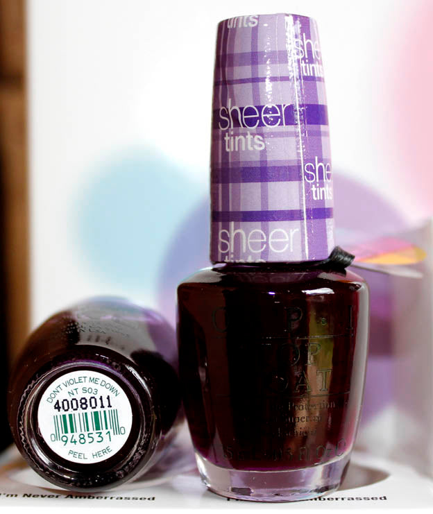 OPI Nail Polish NT S03 Don't Violet Me Down