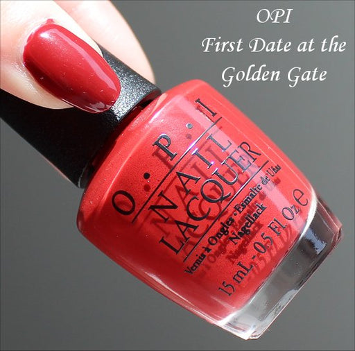 OPI  Discontinue Color Nail Polish  FIRST DATE AT THE GOLDEN GATE F64