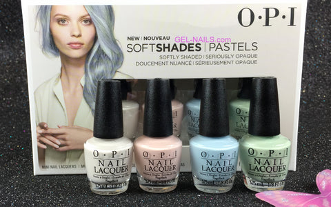 OPI Mini Soft Shades Pastels Collection Spring 2016 Nail Lacquer Set of 4