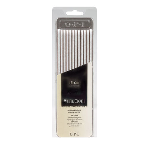 Opi files white cloth package of 12 FI 257 np2
