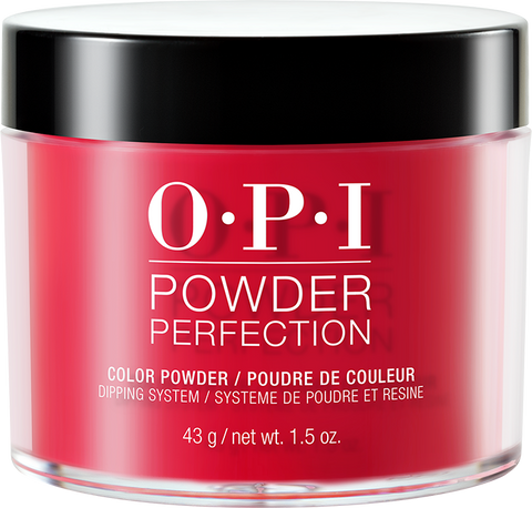 30% OFF - OPI DIPPING COLOR POWDERS - #DPA70 RED HOT RIO 1.5 OZ  p1