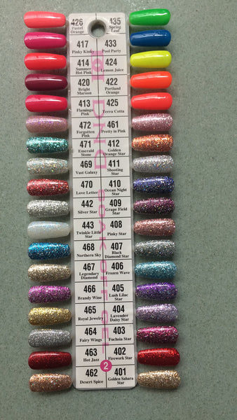 Dnd Daisy Gel Polish Color Sample Chart Palette Display New No 2 Hebiss