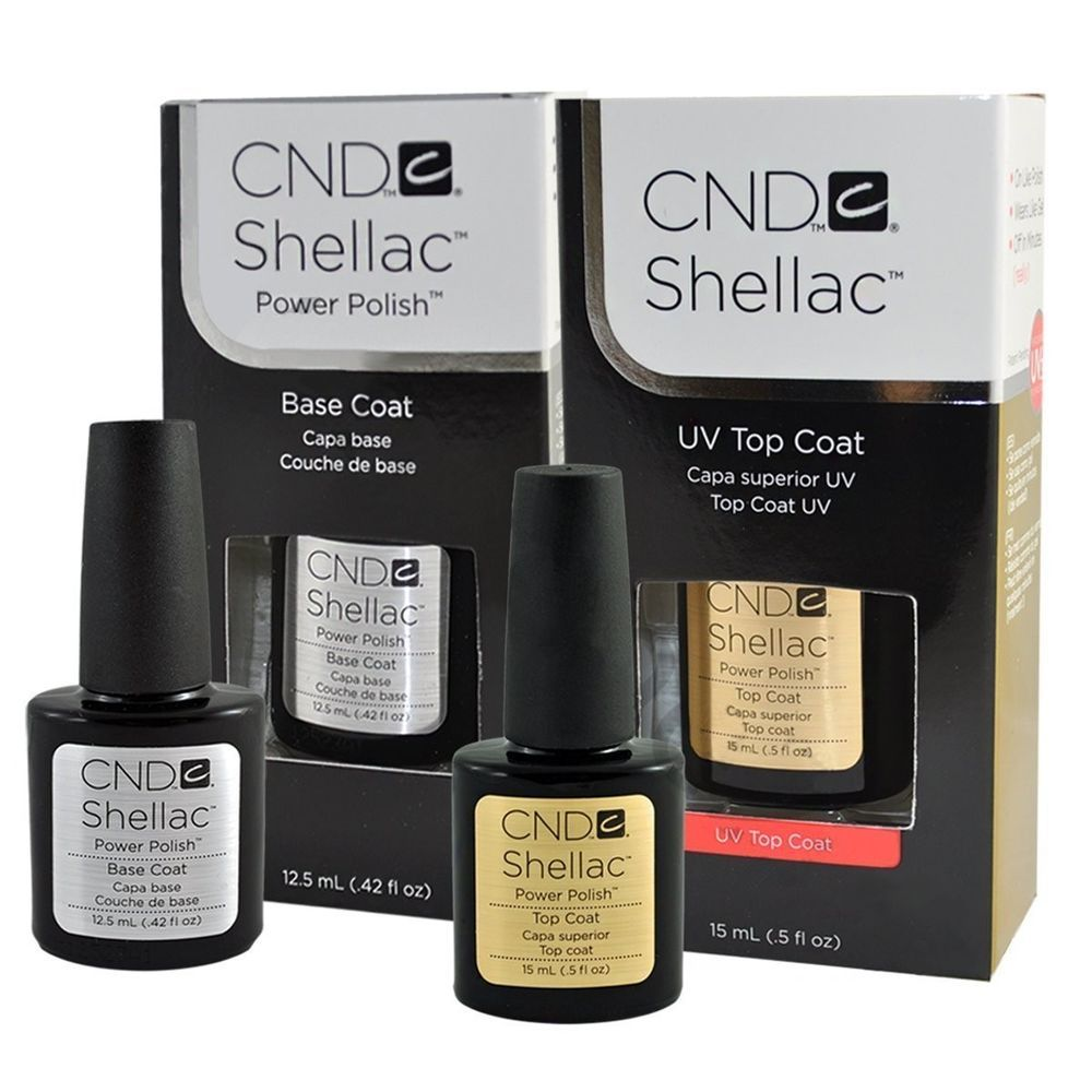 CND Shellac UV Top Coat Base Coat Set .42oz