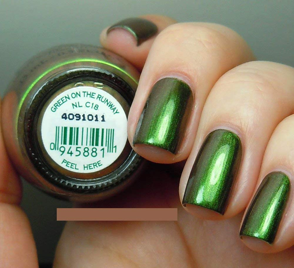 OPI Discontinue Color Nail Polish GREEN ON THE RUNWAY NL C18 nl1