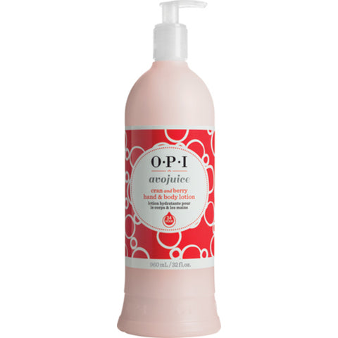 OPI Hand & Body Lotion Avojuice Cran & Berry 32oz/960ml