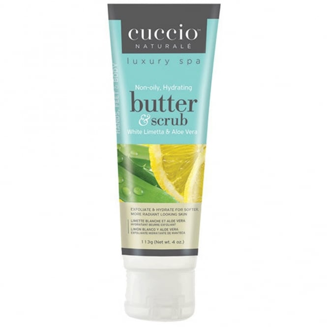 CUCCIO Naturale  Luxury Spa Butter & Scrub  White Limetta & Aloe Vera 113g