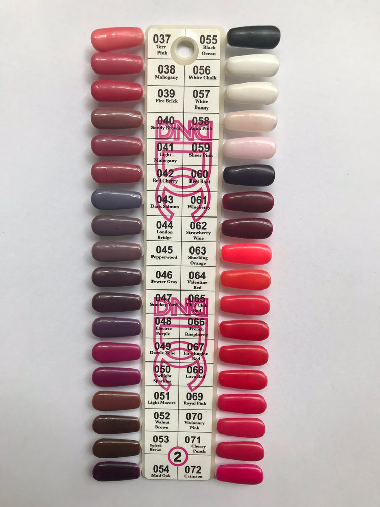 DND Gel Polish Sample Chart (DC Collection) Chart 2