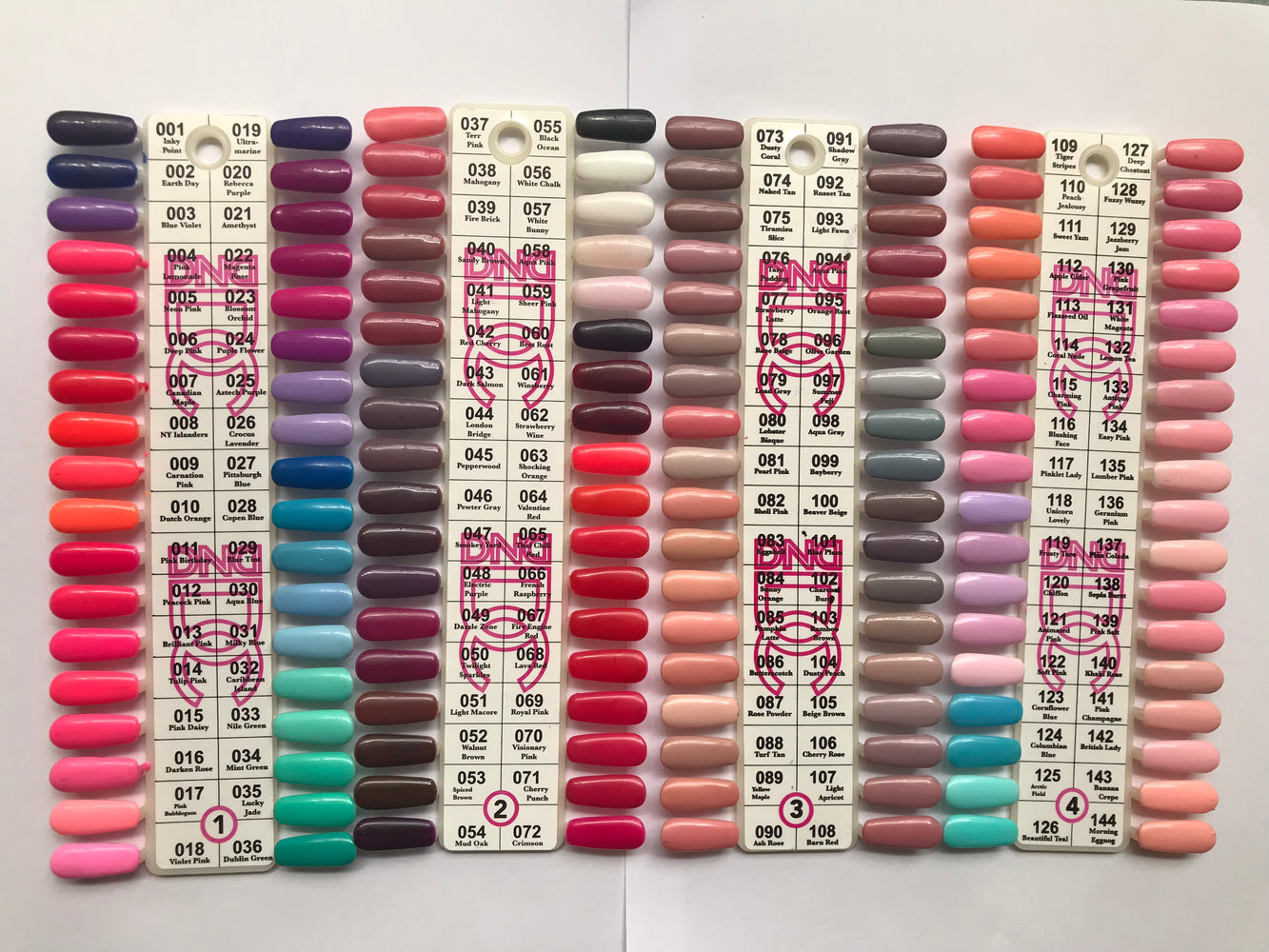 DND Gel Polish Sample Chart (DC Collection) All Chart Numbers*FREE SHIPPING